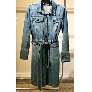 marc jacobs denim trench